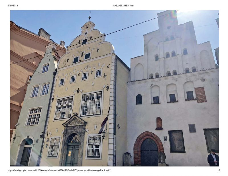 The three historical houses in Old Town Riga built closely together have been called the Three Brothers for centuries – legend has it they had been built by three men of one family.