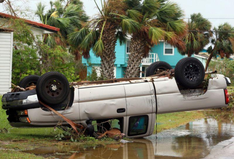 The remnants of the hurricane Harvey spun deep into Texas and unloaded extraordinary amounts of rain. (Photo: AP)