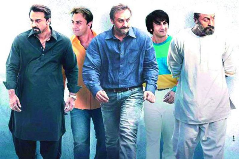 Poster of the movie Sanju.