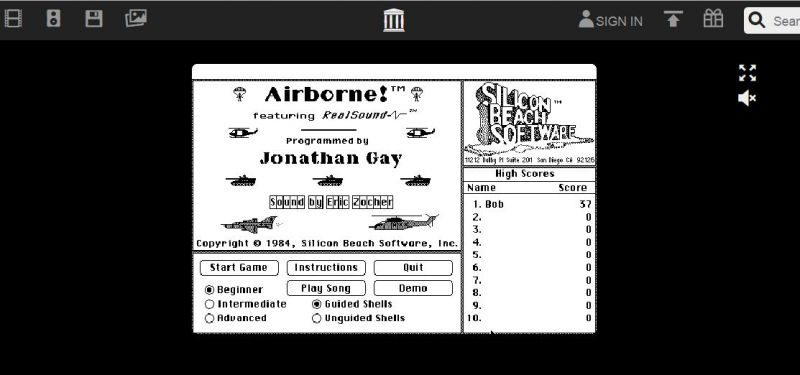 Relish old Macintosh programs from the 80's