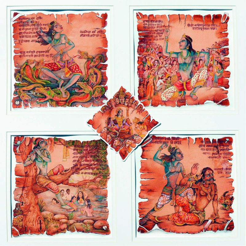 Krishna remains the central figure in the delicate paper works rendered by Gouri Vemula