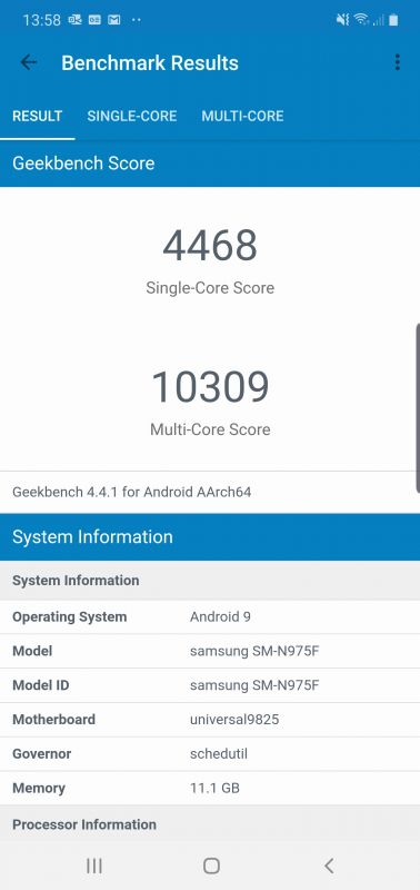 Samsung Galaxy Note 10 Plus benchmarks
