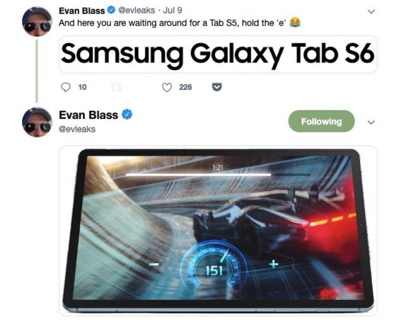 Samsung Galaxy Tab S6 leaked again
