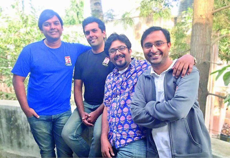 From Left — Piyush Agarwal, Prashanth Nair, Vikram Sridhar and Badarivishal Kinhal