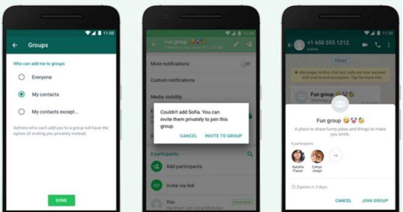 WhatsApp Group privacy
