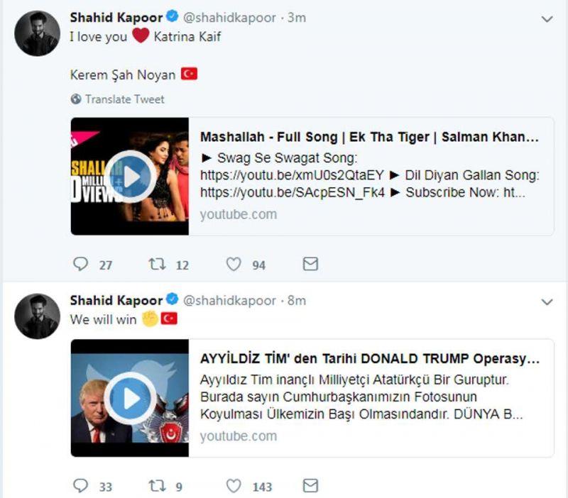 'I love you Katrina Kaif': Shahid Kapoor's hacked Twitter account writes, restored