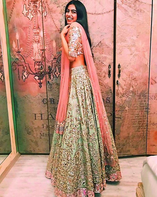Khushi have been often dressed in Manish Malhotra creations.