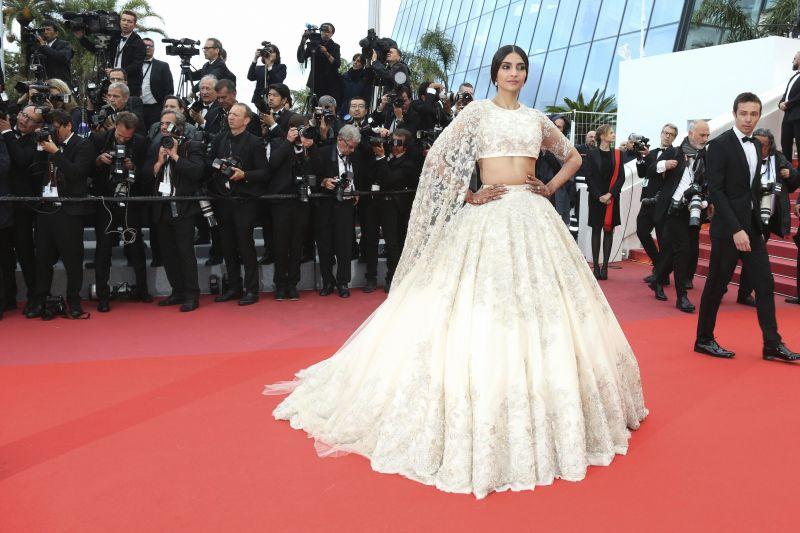 Sonam Kapoor at Cannes. (Photo: AP)