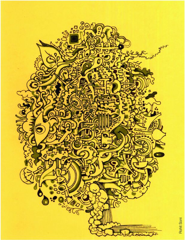 The doodle is inspired from Rohit's experience at his biology classes