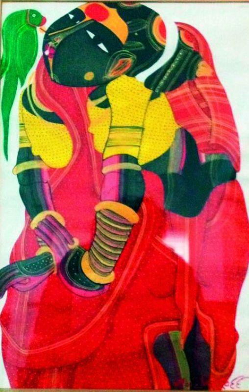 Vaikuntam's women on canvas are pleasantly self-engrossed