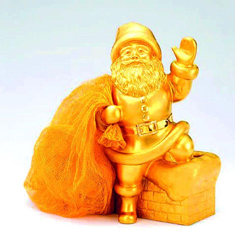Gold Santa Figurine