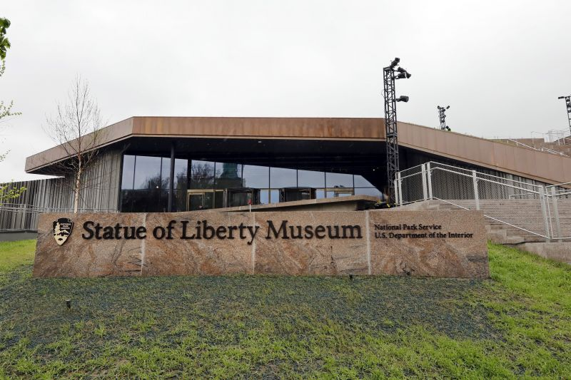 The entrance of the Statue of Liberty Museum, set to open Thursday May 16, 2019 on Liberty Island in New York. (Photo: AFP)