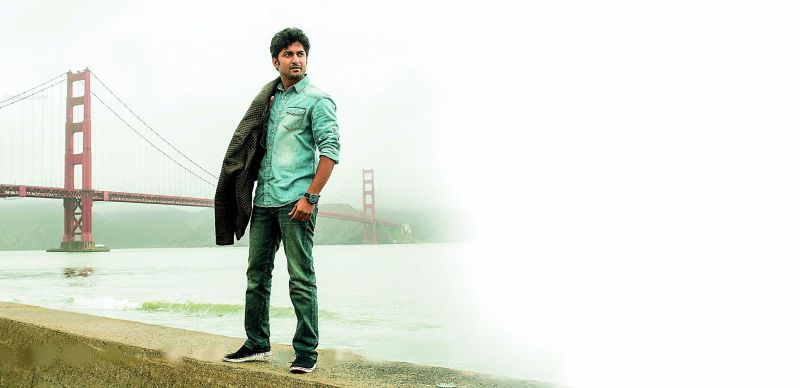 Nani in a still from Ninnu Kori, which was shot in US