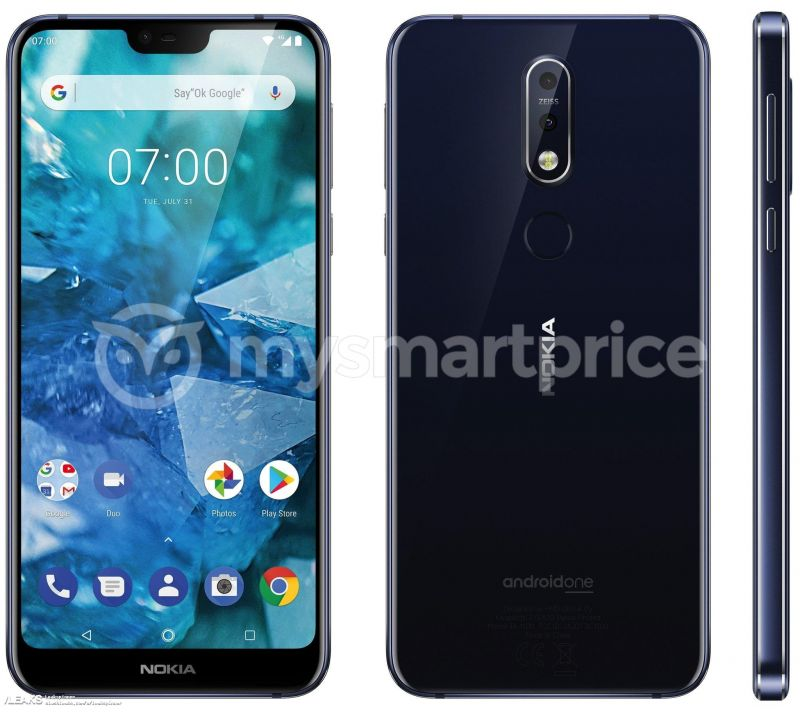 Leaked Nokia 7.1 Plus (X7) renders show a notch, dual Zeiss camera