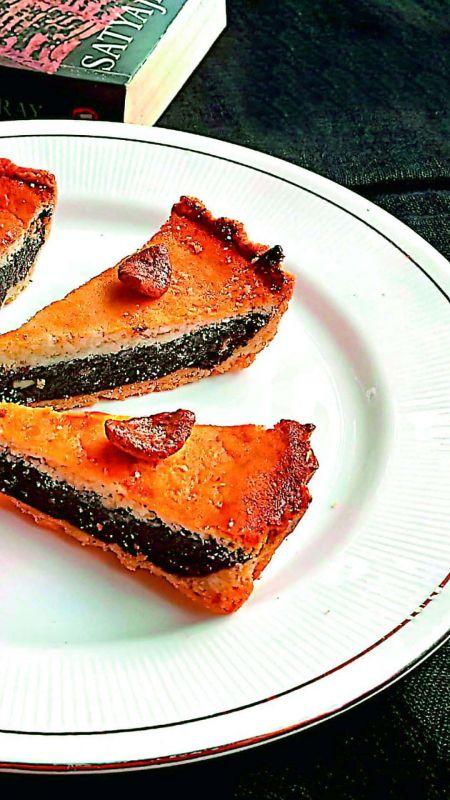 Beetroot chocolate tart