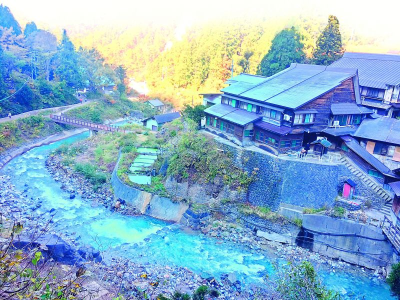 The Korakukan, a wooden onsen ryokan below Jigokudani Monkey Park in Nagano.
