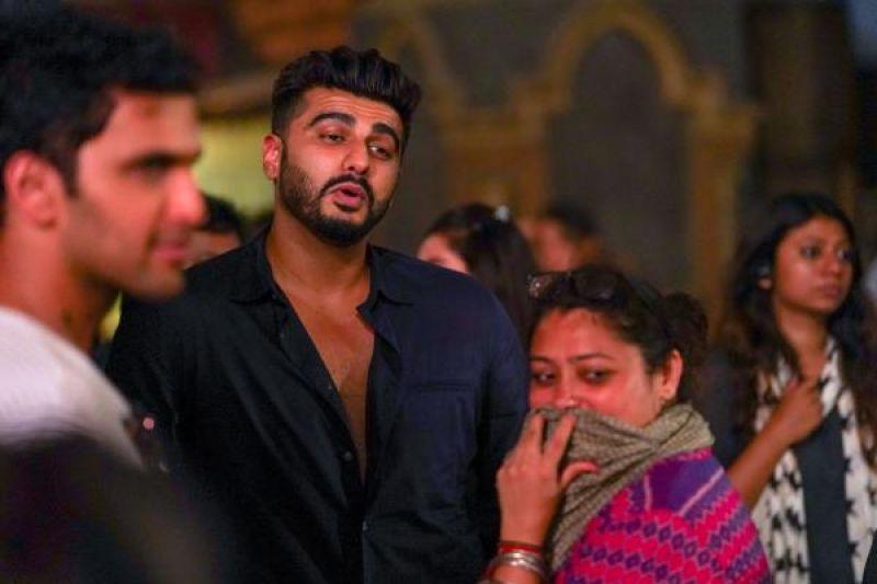 Arjun Kapoor on the sets of 'Kalank'.