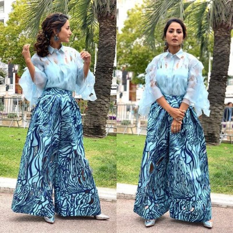 Hina Khan keeps it fresh in a day look at Cannes. (Photo: Instagram @iamhinakhan)