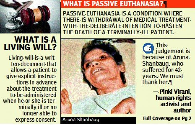 Supreme Court allows Passive Euthanasia