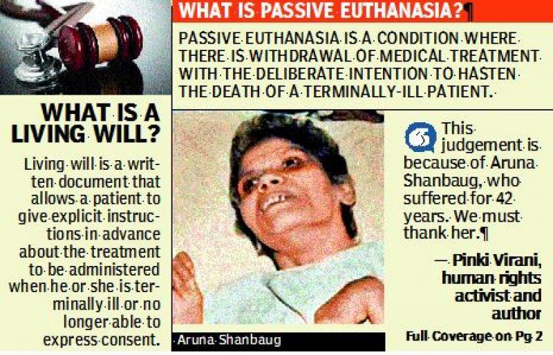 Supreme Court allows Passive Euthanasia