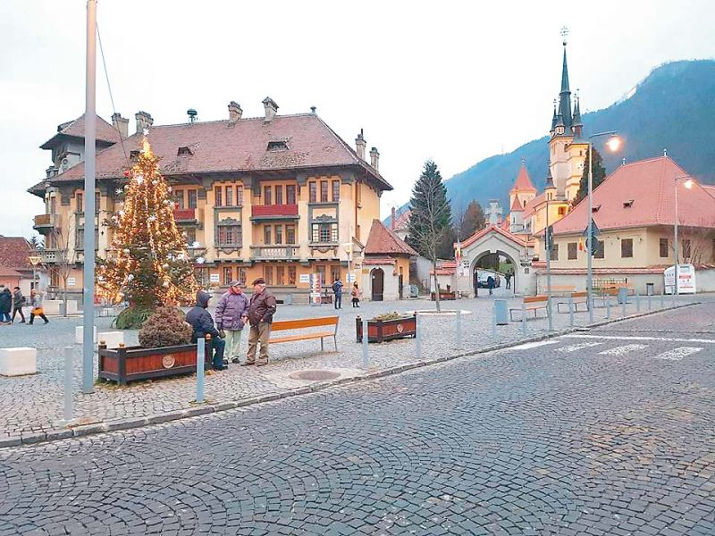 Early morning view of Brasov City in Romania.