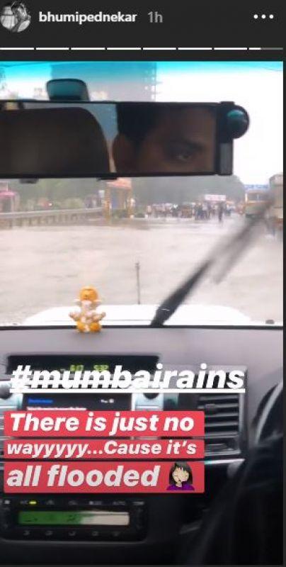 Bhumi Pednekar's Instagram story.