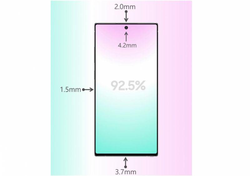 Samsung Galaxy Note 10 bezels