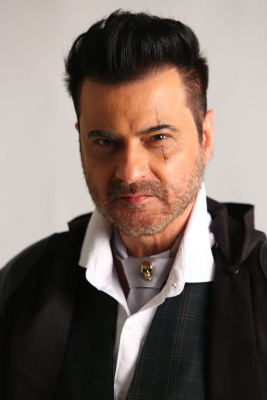 One of Sanjay Kapoor's looks for 'Bedhab' trial.
