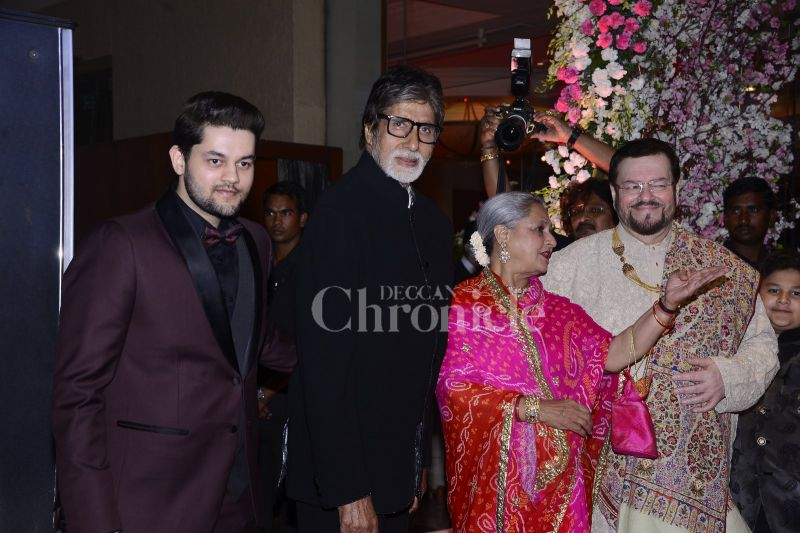 The reception took place in Mumbai on Friday, which was attended by the who's who of Bollywood.