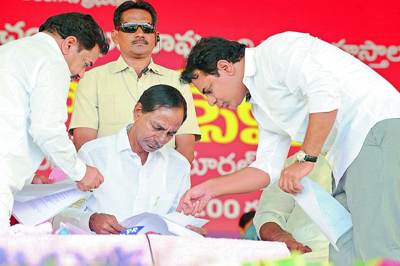 In line: In Telangana, the TRS boss is CM K. Chandrasekhar Rao. His son K.T. Rama Rao is a minister and already in the line to succeed his father. KCR's daughter Kavitha, too, is a Lok Sabha MP.