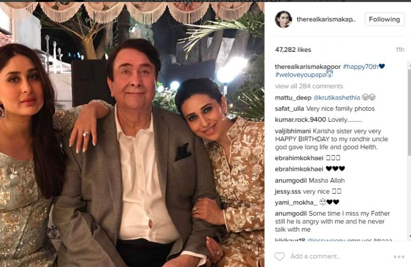 Inside pics: Kareena-Karishma celebrate Randhir Kapoor's birthday in grand style