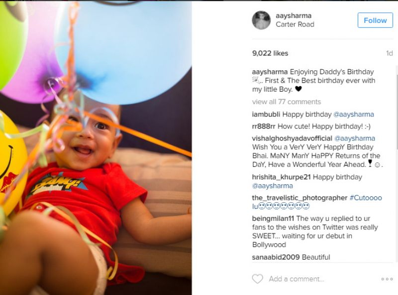 Salman Khan's nephew Ahil Ayush Sharma birthday