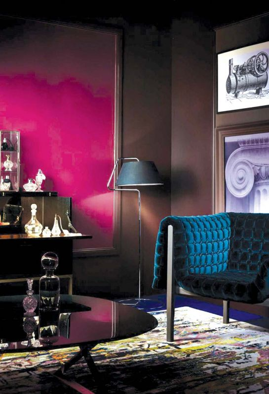Dark rich hues add extra depth to your home.