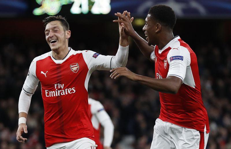 Mesut Ozil notched a second-half hat-trick for Arsenal. (Photo: AP)