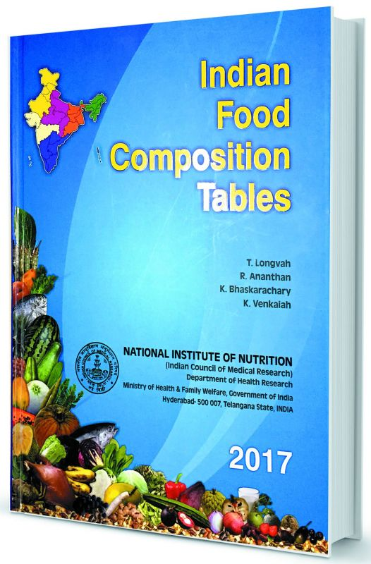 The book on Indian food  composition released by NIN