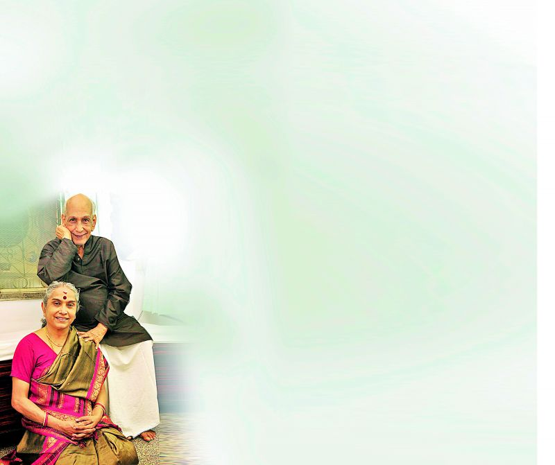 V.S. Ramamoorthy and his daughter Manjula Ramaswami