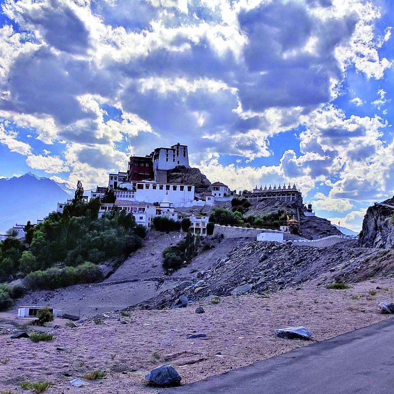 Drama in the sky: (Below) A cellphone  photograph by travel  blogger and freelance writer Anuradha Shankar, taken at Ladakh