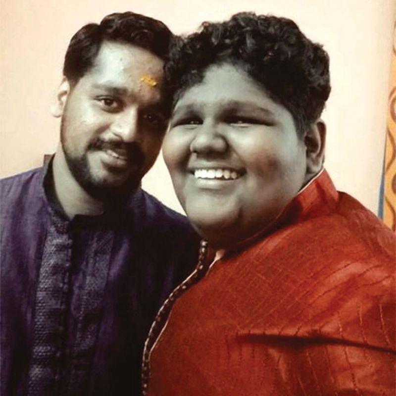 With brother Krishnanunni