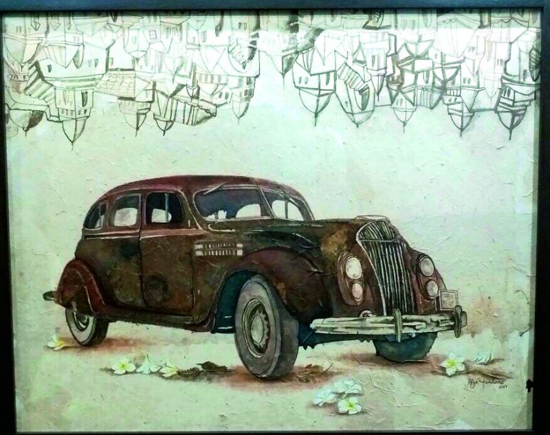 With the symbolic presence of a car, she recalls the string of sweet memories attached to it.