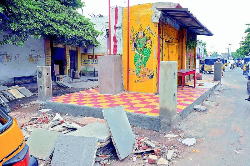 Construction work of Shamsheergunj Durga temple was put on hold after complaints were filed. (Photo: DC)