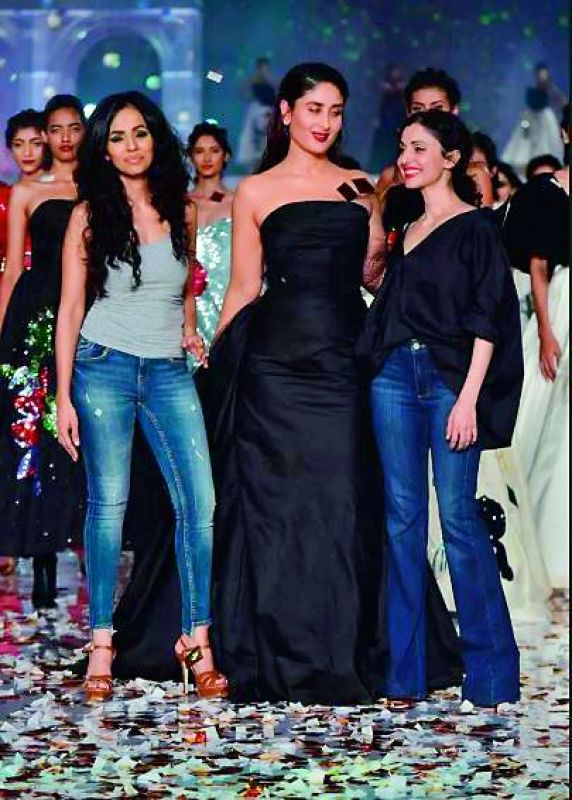 Kareena Kapoor Khan for  Gauri and Nainika at the recent concluded LFW.