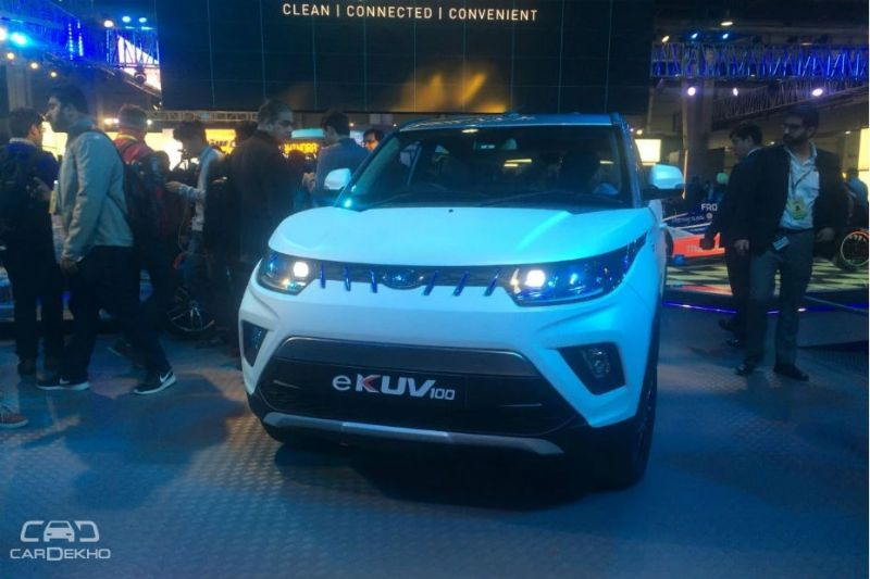 Mahindra e-KUV100: As expected Mahindra and Mahindra has displayed the all-electric avatar of the KUV100 at the Expo. The vehicle is equipped with smartphone connectivity, cabin pre-cooling and real-time location tracking among others. With a range of 140km, the e-KUV100 can be charged up to 80 per cent in an hour. It's going to come to India soon.