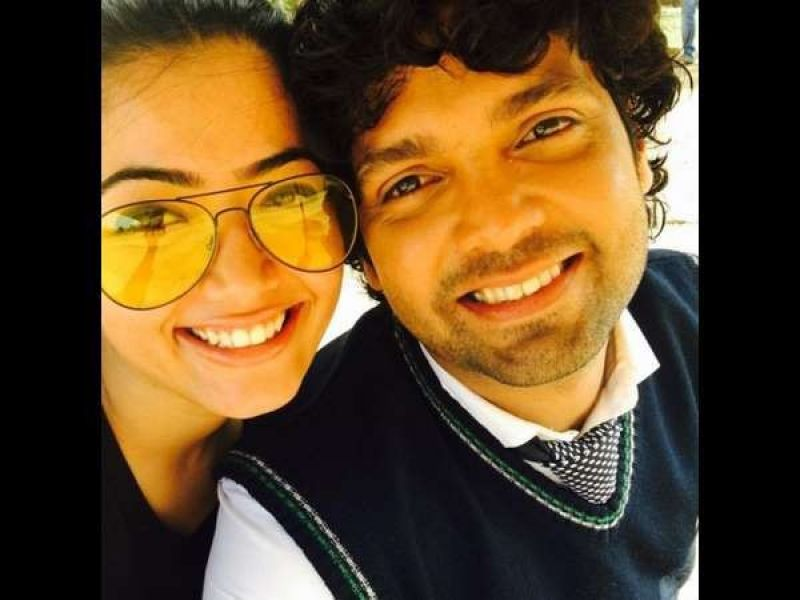 Happy times: Rashmika and Rakshit