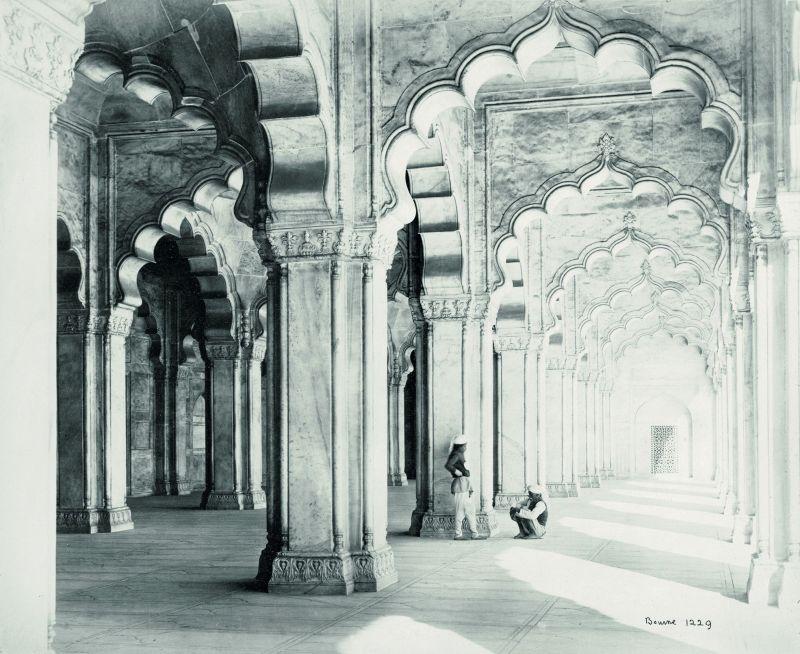 Agra, the interiors of the Moti Masjid.