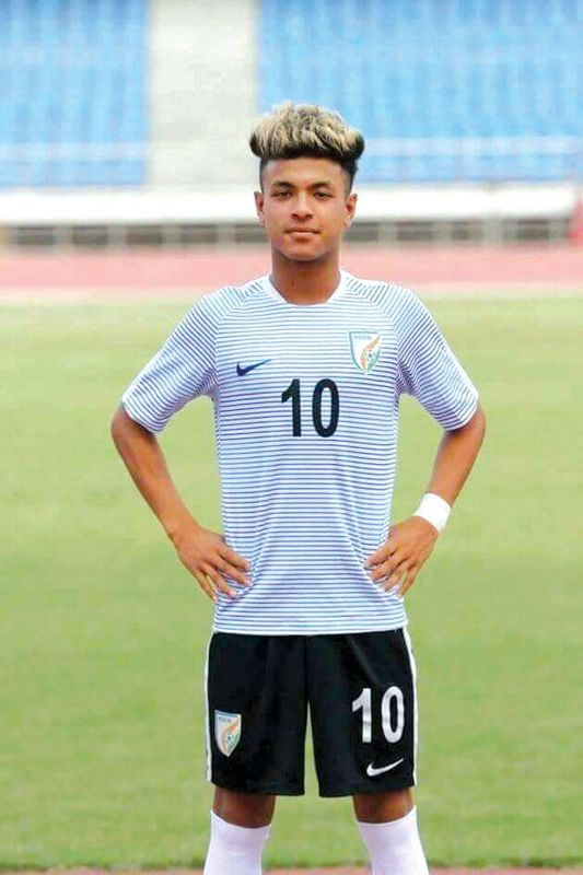 Indian midfielder and winger Komal Thatal