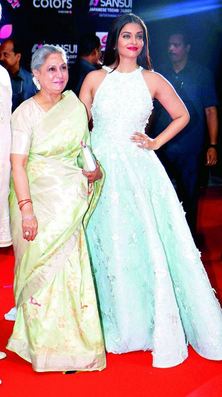 Jaya Bachchan and Aishwarya Rai are said to have had issues, but in public they have always been very cordial.