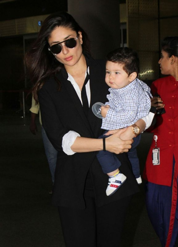 Kareena Kapoor Khan with son Taimur.