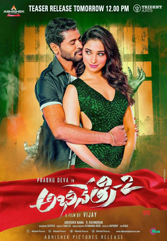The sequel to the 2016 horror-comedy Abhinetri, Abhinetri 2 stars Prabhu Deva, Tamannaah Bhatia, and Nandita Swetha, and has been directed by Kollywood's A. L. Vijay.