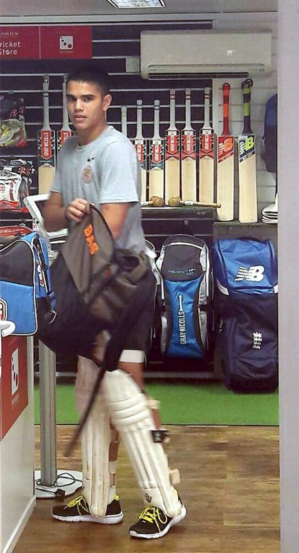 Just as everyone was soaking in the atmosphere, one saw a familiar looking youngster padded up and standing inside the cricket gear shop, adjacent to the nets. (Photo: PTI)