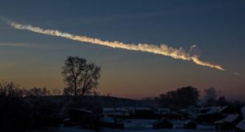 The trace left in the sky by the meteor that broke up over Chelyabinsk, Russia, in 2013. A new study explored seven effects associated with asteroid impacts — heat, pressure shock waves, flying debris, tsunamis, wind blasts, seismic shaking and cratering — and estimated their lethality for varying sizes. Credit: Alex Alishevskikh